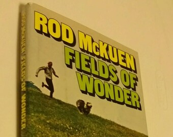Rod McKuen Fields of Wonder, vintage poetry book 1971