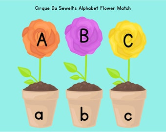 Alphabet Flower Match