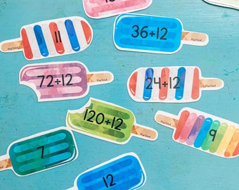 Division Facts Popsicles
