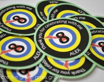 Laser Tag Sticker Labels