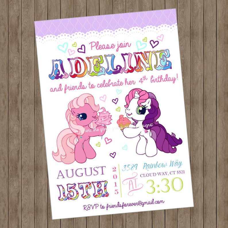 My Little Pony Birthday Invitations Printable