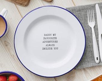 Personalised Message Enamel Plate