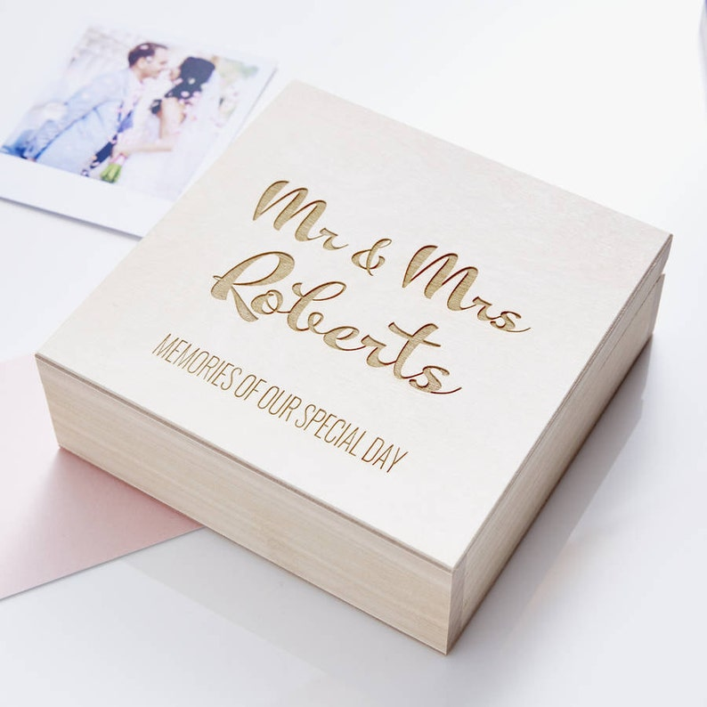 Calligraphy Personalised Wedding Keepsake Box