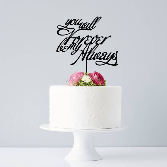 Awesome Elegant Personalised Song Lyrics Wedding Cake Topper Etsy Funny Birthday Cards Online Overcheapnameinfo