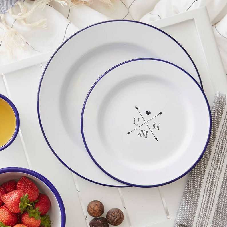 Enamel Personalised Gardening Plate