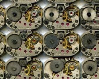 """1/2"""" x 3/4"""", 27 IDENTICAL little watch movements, best price, jewelry art, steampunk, vintage, watch parts, JunqueTreasures, WM3"""