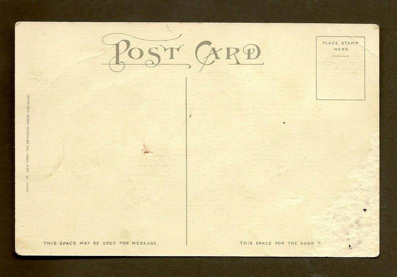 Vintage Birthday Postcard With Bible Verse Proverbs 20:11 Young Boy With  Flag C M Burd - Abingdon Press