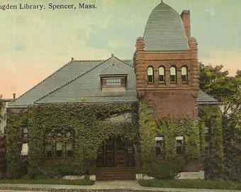 Richard Sugden Library SPENCER Massachusetts c 1910s – Ivy Covered Architecture