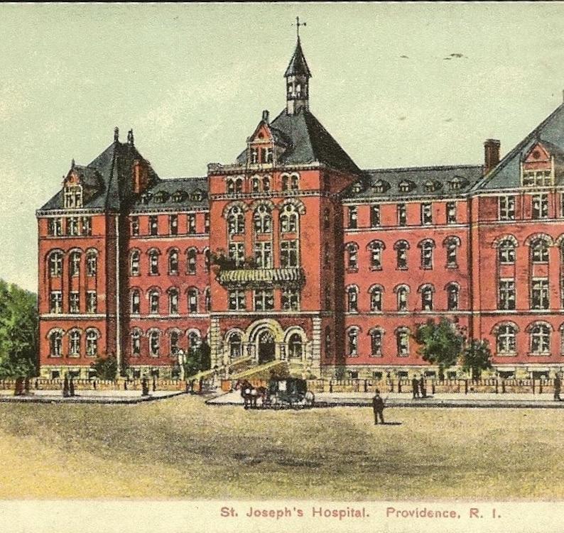 Providence Rhode Island St Joseph's Hospital Antique Postcard 1908