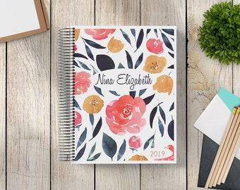 Custom Journal | Prayer Journal | Custom Planner -- Navy Gold Floral