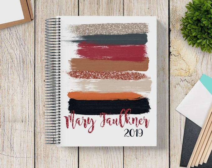 Custom Journal   Prayer Journal   Custom Planner -- Mod Glitter Brush Strokes