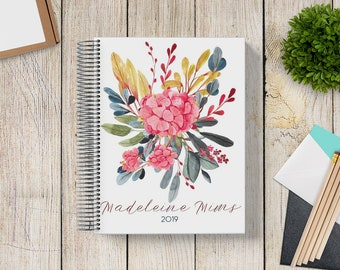Custom Journal | Prayer Journal | Custom Planner -- Watercolor Floral