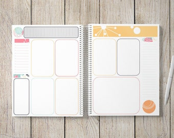 Custom Journal | Prayer Journal | Custom Planner -- Mid-Century Modern Circles