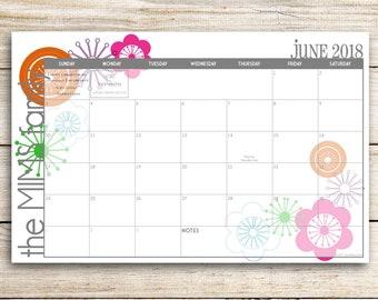 Custom Desk Calendar, Desk Pad, Blotter Calendar, Academic Calendar, Yearly Calendar -- Bright and Cheery, CHOOSE YOUR DATES