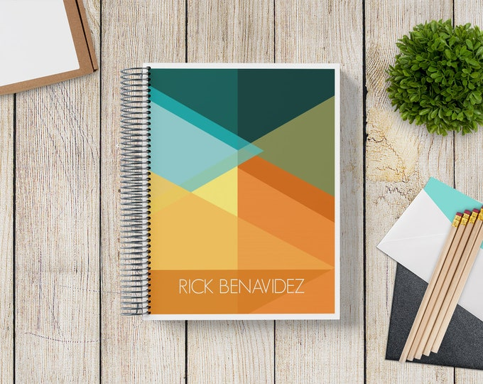 2021-2022 Custom MONTHLY Planner -- Retro Geometrics