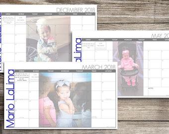 Custom Desk Calendar, Desk Pad, Blotter Calendar, Academic Calendar, Yearly Calendar -- Your Picture Here, PRINT YOUR OWN