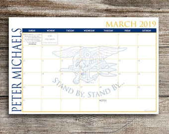 2019 Custom Desk Calendar - Navy Seal