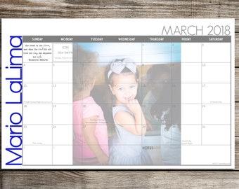 Custom Desk Calendar, Desk Pad, Blotter Calendar, Academic Calendar, Yearly Calendar -- Your Picture Here, CHOOSE YOUR DATES