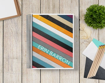 Custom Planner 2020-2021 -- Vintage Grunge Stripes