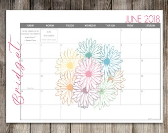 Custom Desk Calendar, Desk Pad, Blotter Calendar, Academic Calendar, Yearly Calendar -- Daisy Bouquet, CHOOSE YOUR DATES