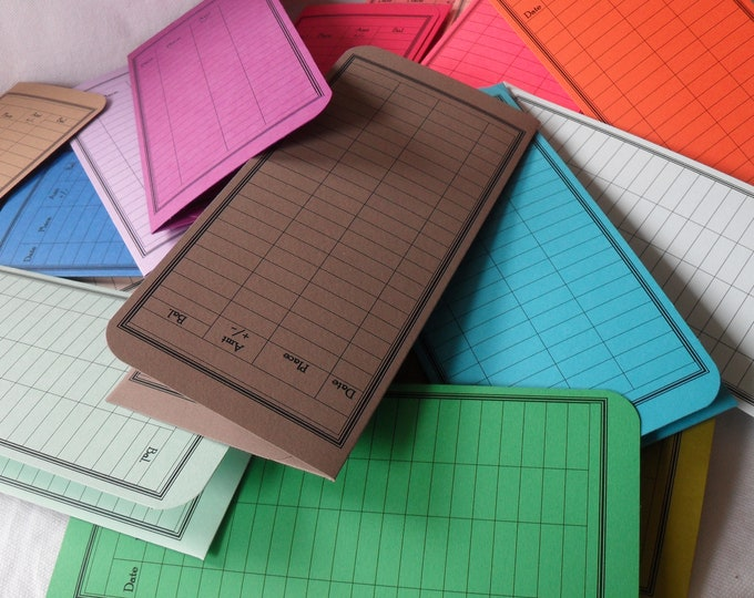 Money Envelope, Debit Card Balance Tracker, Receipt Holder, Stocking Stuffer -- the Solids