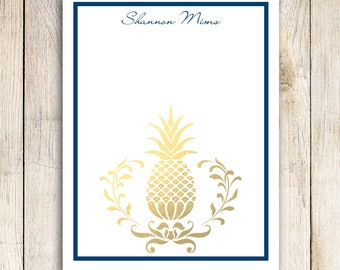 Custom Notepad - Golden Pineapple