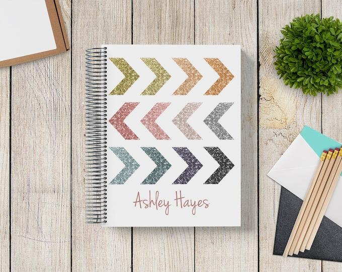 2021-2022 Custom Monthly-Weekly Planner -- Glitter Arrows