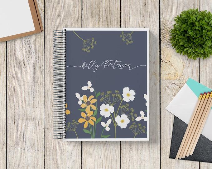 NEW Design! 2021-2022 Custom Monthly-Weekly Planner -- Wildflowers