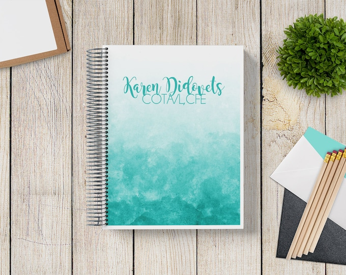 2021-2022 Custom Monthly-Weekly Planner -- Ombre Watercolor