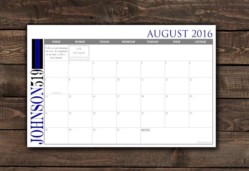 2021 Custom Desk Calendar Desk Pad Blotter Calendar  Simple image 0