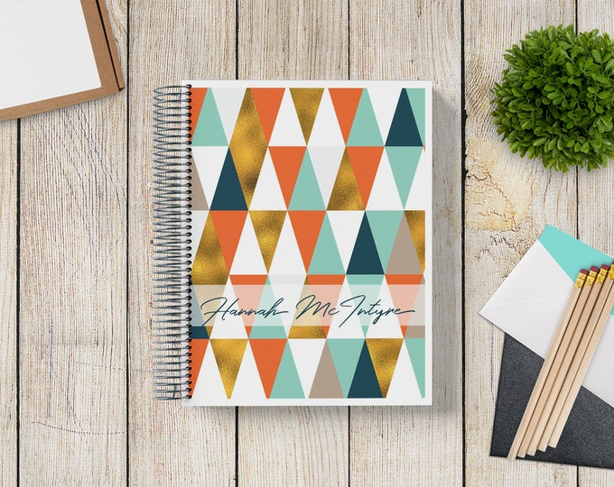 NEW Design! 2021-2022 Custom Monthly-Weekly Planner -- Golden Triangle