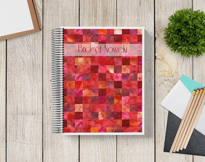 2021-2022 Custom Monthly-Weekly Planner -- Watercolor Tiles