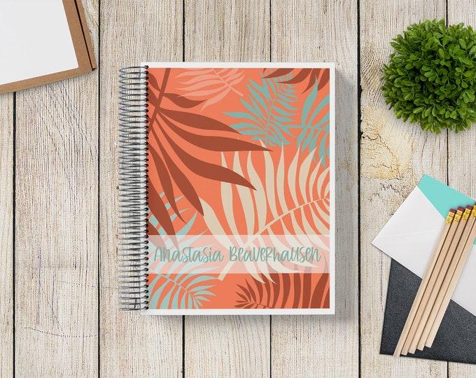 NEW Design! 2021-2022 Custom Monthly-Weekly Planner -- Tropical Tangerine