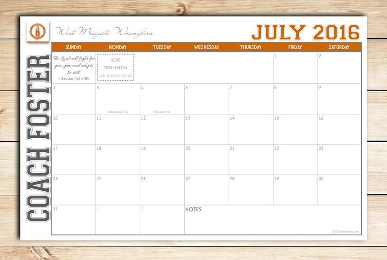 2021 Custom Desk Calendar Desk Pad Blotter Calendar image 0