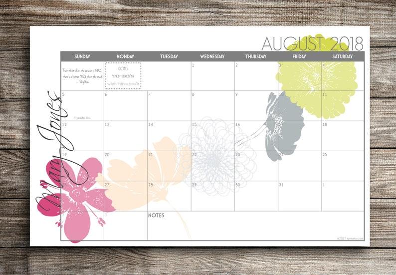 2021 Digital Printable PRINT YOUR OWN Custom Desk Calendar image 0