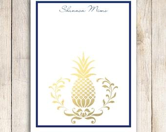 Custom Notepad - Golden Pineapple