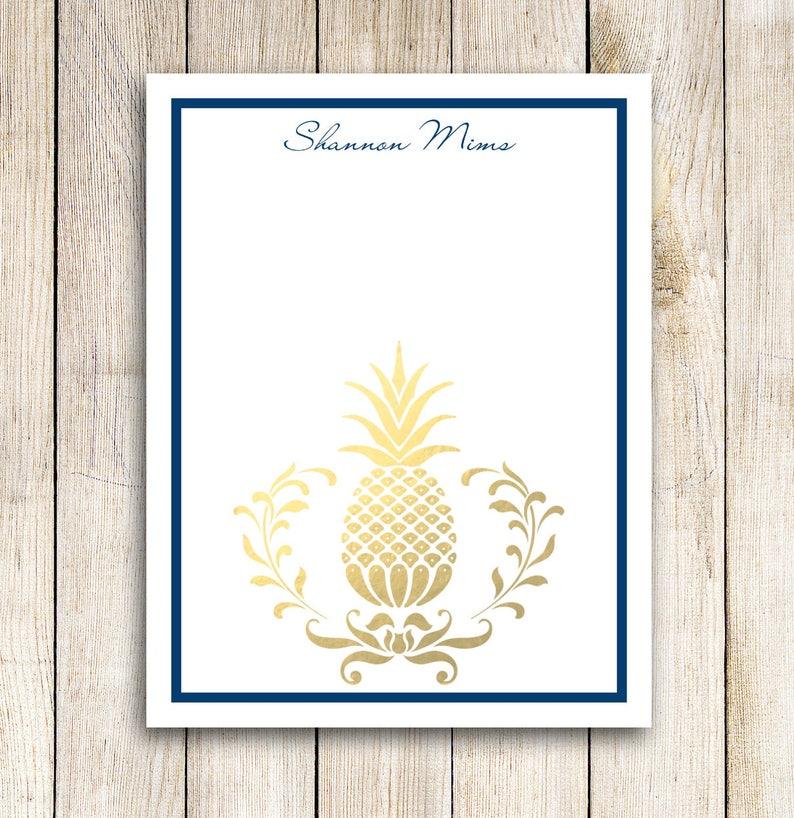 Custom Notepad  Golden Pineapple image 0