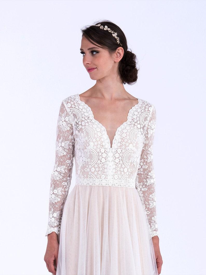 wedding dress lace wedding dress long sleeve wedding dress image 0