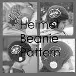 Football Helmet Beanie PATTERN - Baby, Toddler, Child and Adult