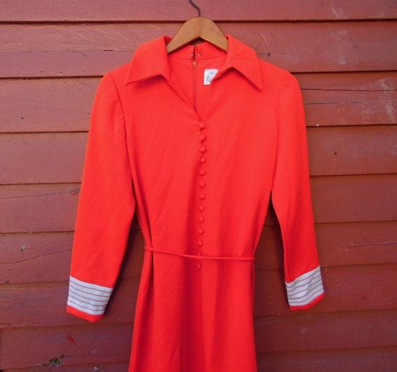 70s Bright Cherry Leslie Fay Mof