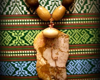 Earth Mother Grounding Pendant Wood of Ancient Days