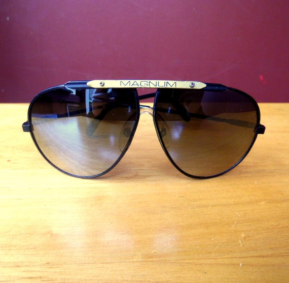 80s Magnum Aviator Sunglasses Retro Eyewear