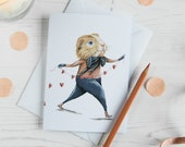Philip the guinea pig greeting card. Miscellaneous blank note card. Card for him or her. Romantic, Birthday, Valentines day, Fathers day