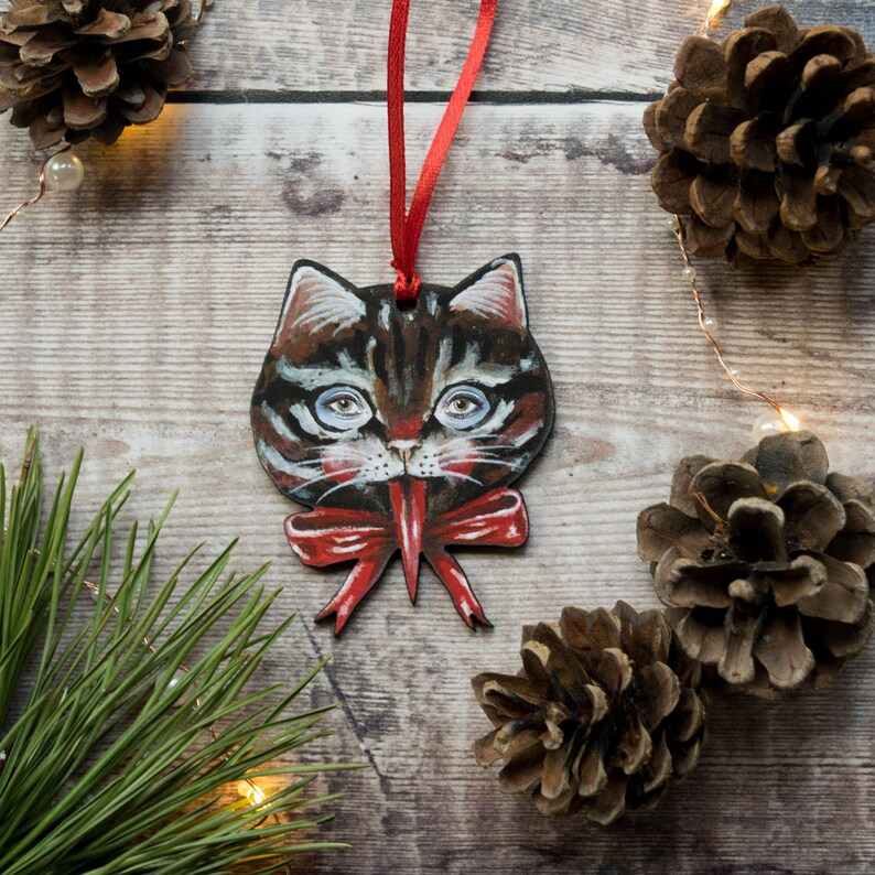 Vintage inspired kitty cat Krampus Christmas decoration ...