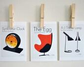 An Ode to Arne Jacobsen Prints, Set of Three Prints, Retro Home Decor