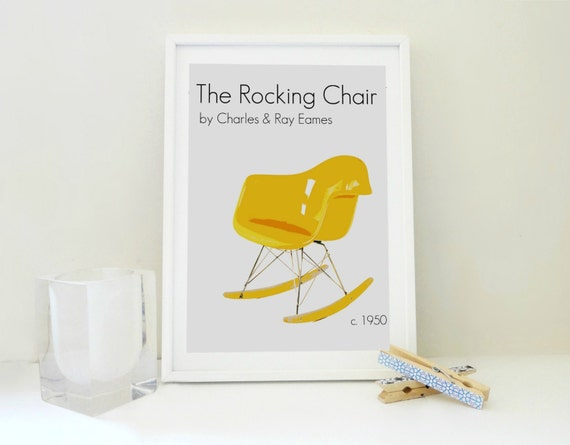 Wondrous The Eames Rocking Chair Print Charles Ray Eames Print Unemploymentrelief Wooden Chair Designs For Living Room Unemploymentrelieforg
