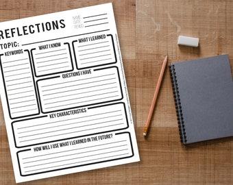Reflections Worksheet / Hoja de Reflexiones PDF English / Spanish