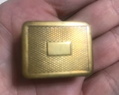 VOLUPTE Vintage Tiny Hinged Brass Pill Box 1940 39 s