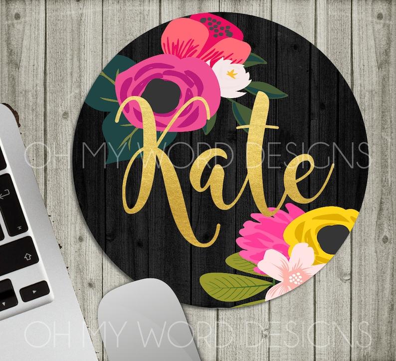 Personalized Mouse Pad-Monogram Mouse Pad-Desk image 1