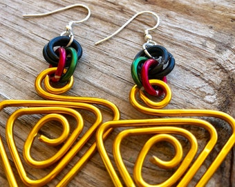 Black Panther Stick Earrings  Rate Black Wood Gift For Her